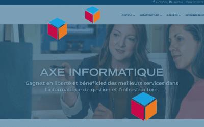 Nouvelle identité visuelle pour AXE Informatique