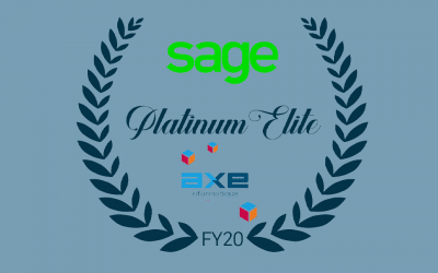 SAGE Platinum Elite award : AXE Informatique récompensé à nouveau par l'éditeur